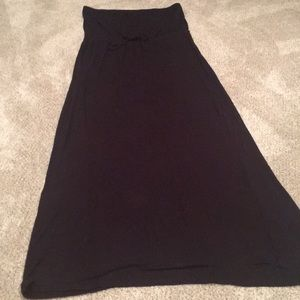 Old Navy black strapless maxi